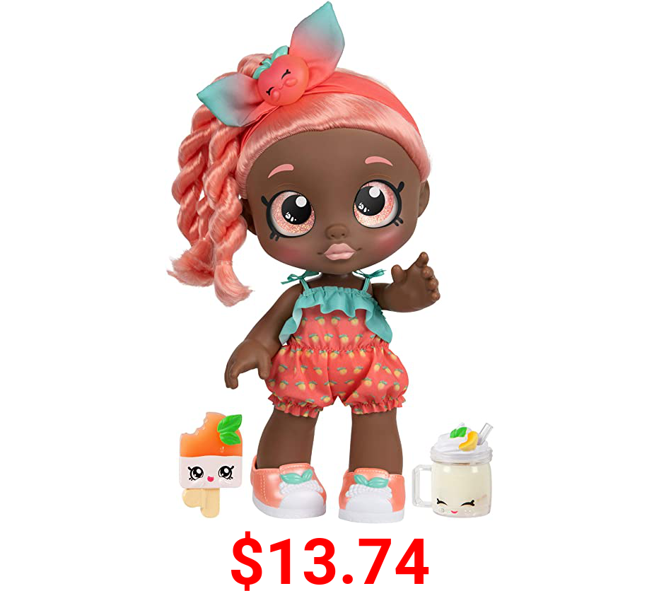Kindi Kids Snack Time Friends - Pre-School Play Doll, Summer Peaches - for Ages 3+   Changeable Clothes and Removable Shoes - Fun Snack-Time Play, for Imaginative Kids