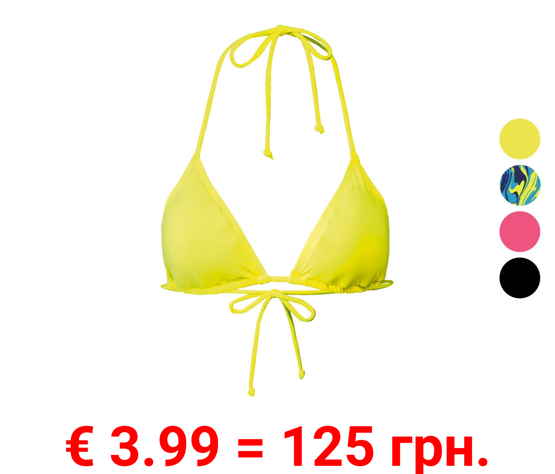 ESMARA® Bikini Oberteil Triangel Damen, zum Binden
