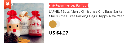 LAPHIL 12pcs Merry Christmas Gift Bags Santa Claus Xmas Tree Packing Bags Happy New Year 2020 Christmas Candy Bags Natal 2020