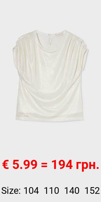 Kurzarmshirt - glänzend
