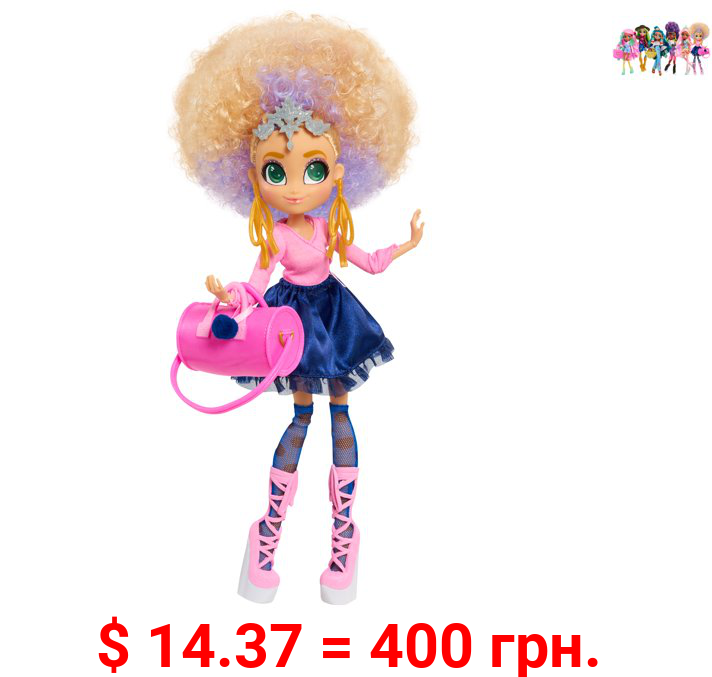Hairdorables Hairmazing Bella Fashion Doll, Blonde and Purple Curly Hair, Pink Outfit, Ballerina Dancer, By Just Play