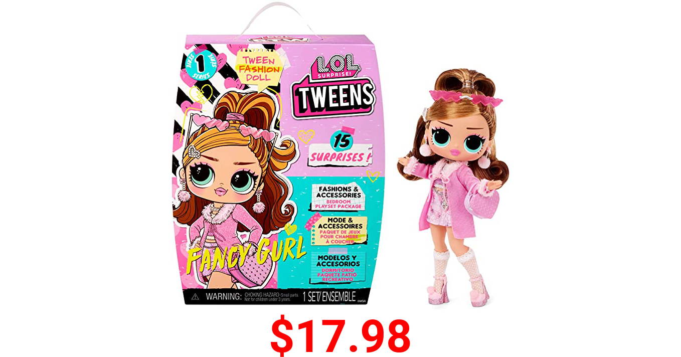 LOL Surprise Tweens Fashion Doll Fancy Gurl with 15 Surprises Including Pink Outfit and Accessories for Fashion Toy Girls Ages 3 and up