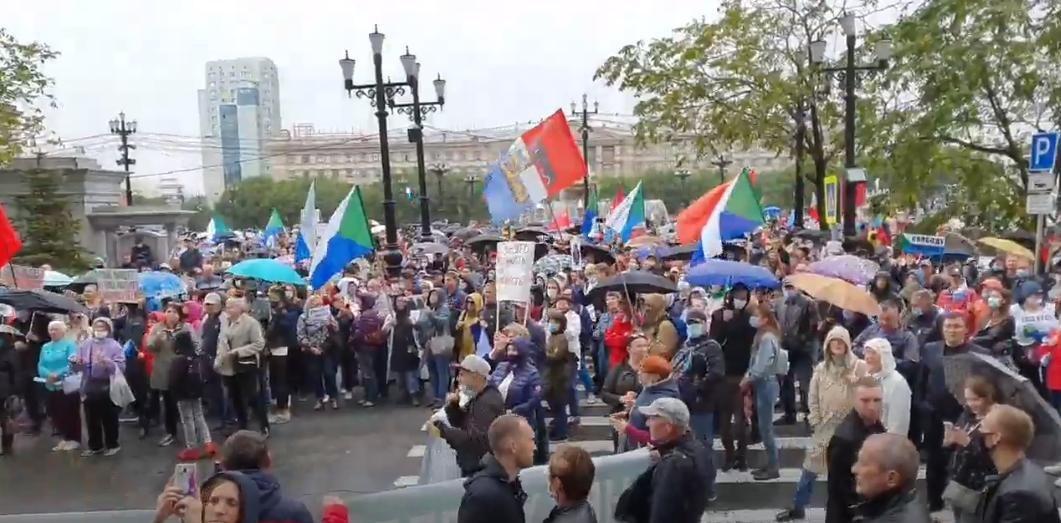 71-й день митингов проходит в Хабаровске