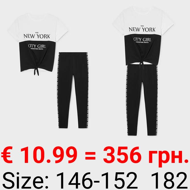 Set - Kurzarmshirt und Leggings