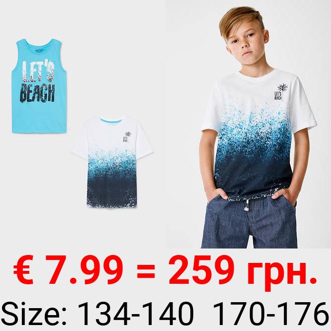 Multipack 2er - Top und Kurzarmshirt - Bio-Baumwolle