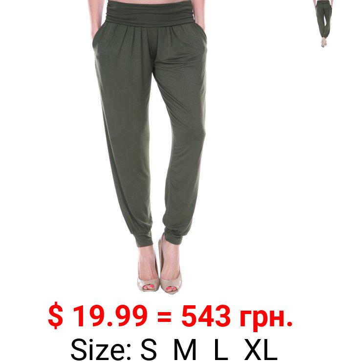 White Mark Women's Harem Pants