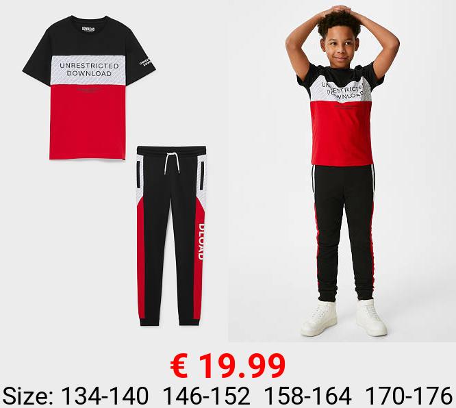 Set - Kurzarmshirt und Jogginghose - Bio-Baumwolle