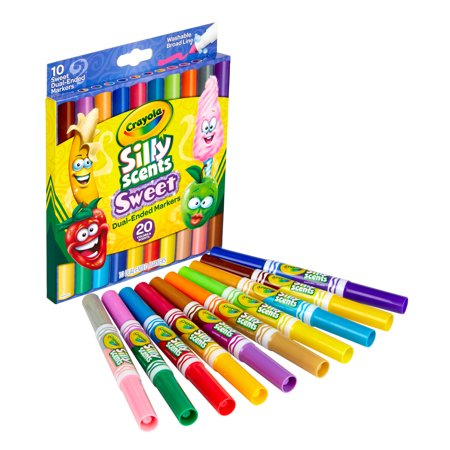 Crayola Silly Scents Dual-Ended Specialty Markers, 10 Count Child