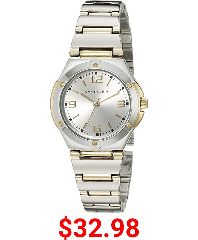 Anne Klein Women's 108655SVTT Two Tone Round Dress Watch