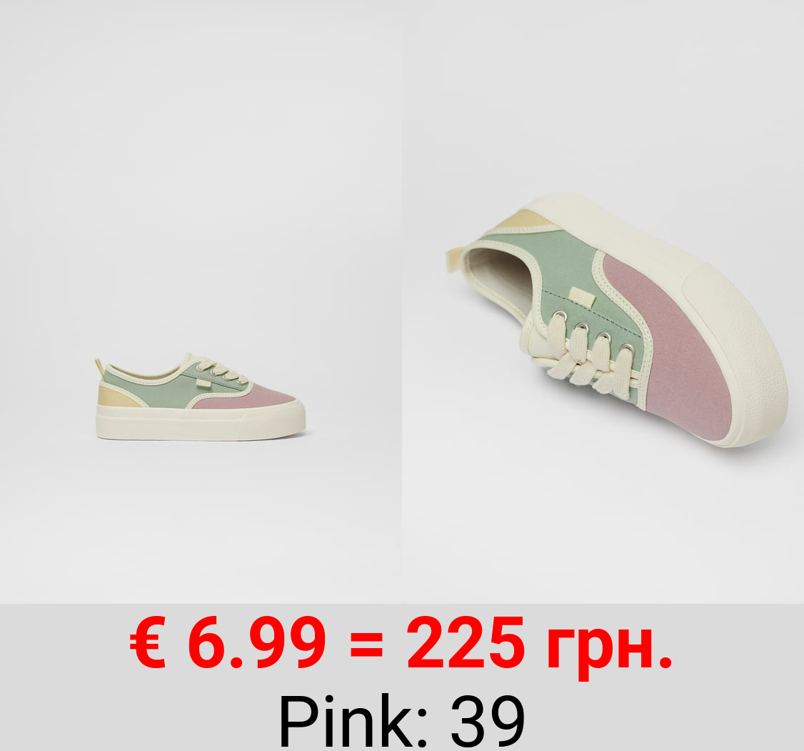 COLOURED COTTON SNEAKERS