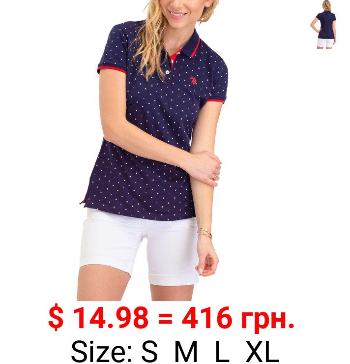 US Polo Assn. Classic Polo Dot Pique Short Sleeve Shirt, Women's