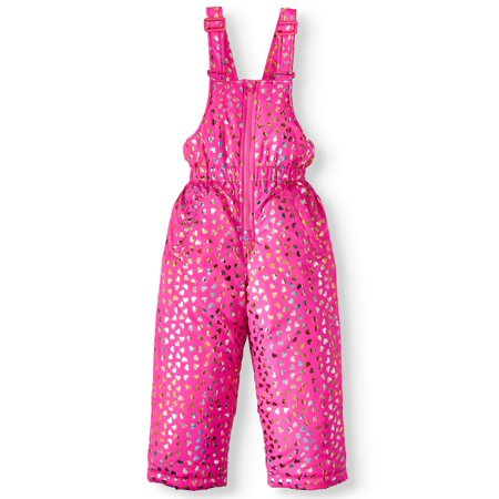 Bhip Girls Foil Heart Snowsuit/ Ski bib, Sizes 4-6x