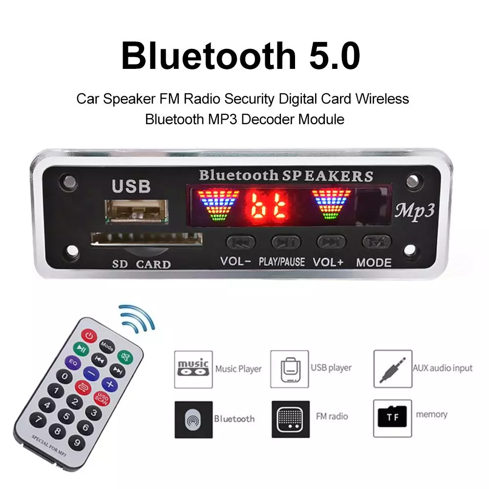 Bluetooth5.0 MP3 Decoding Board