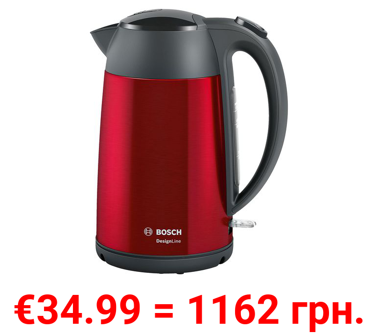 BOSCH Wasserkocher, DesignLine, 1.7 l, Rot