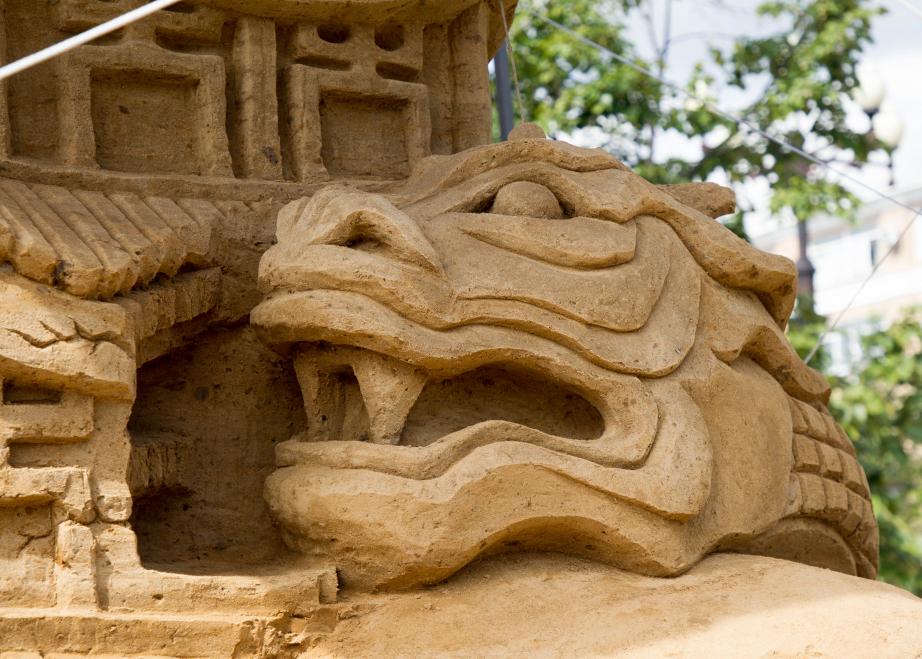 В Хабаровске подвели итоги второго фестиваля-конкурса песчаных скульптур