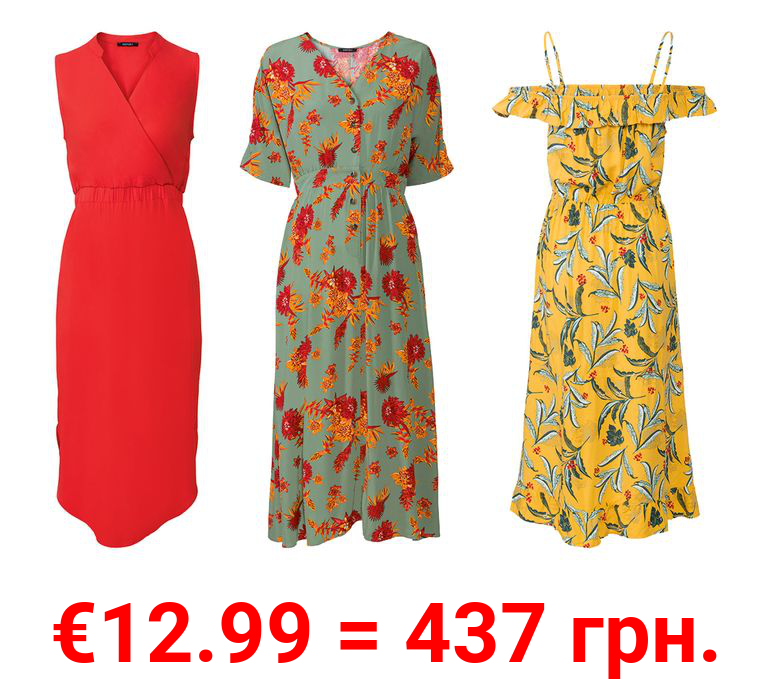 ESMARA® Kleid Damen, aus reiner Viskose