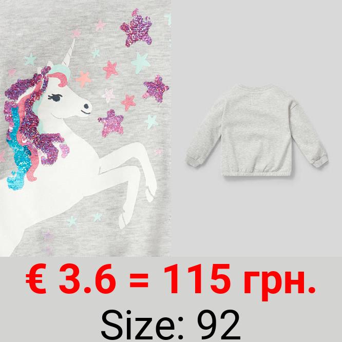 Einhorn - Sweatshirt - Bio-Baumwolle - Glanz-Effekt