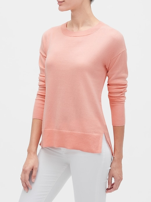 Crewneck Tunic Sweater
