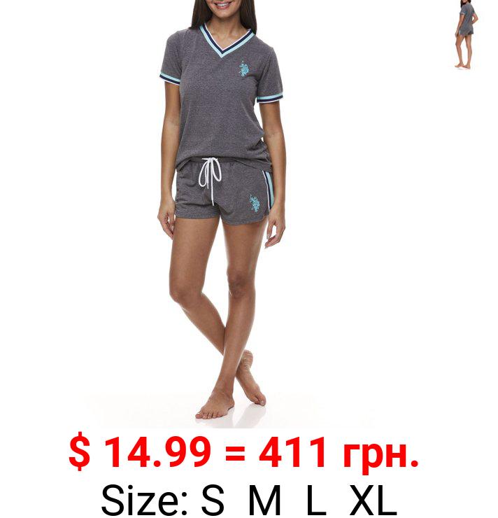 U.S. Polo Assn. Women's & Women's Plus 2pc Short Sleeve Lounge Pajama Sleep Set