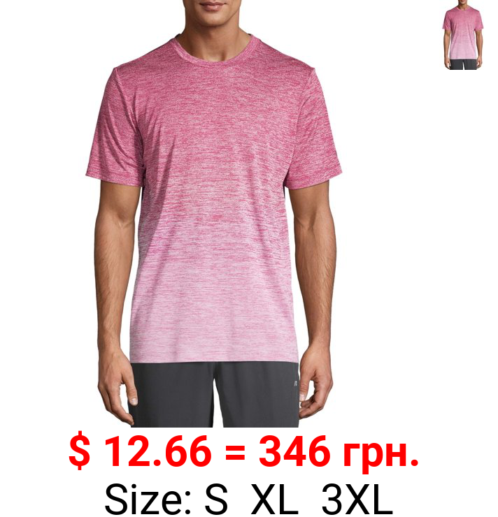Russell Men's and Big Men's Ombre Performance Tee, up to Size 5XL