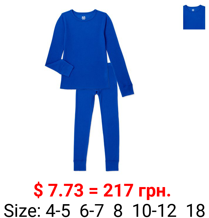 Fruit of the Loom Boys Thermals, Waffle Thermal Set Sizes 4/5 - 18