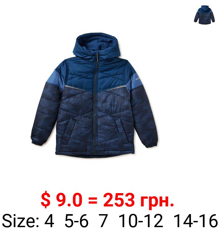 Swiss Alps Boys Camo Illusion Puffer Jacket, Sizes 4-16