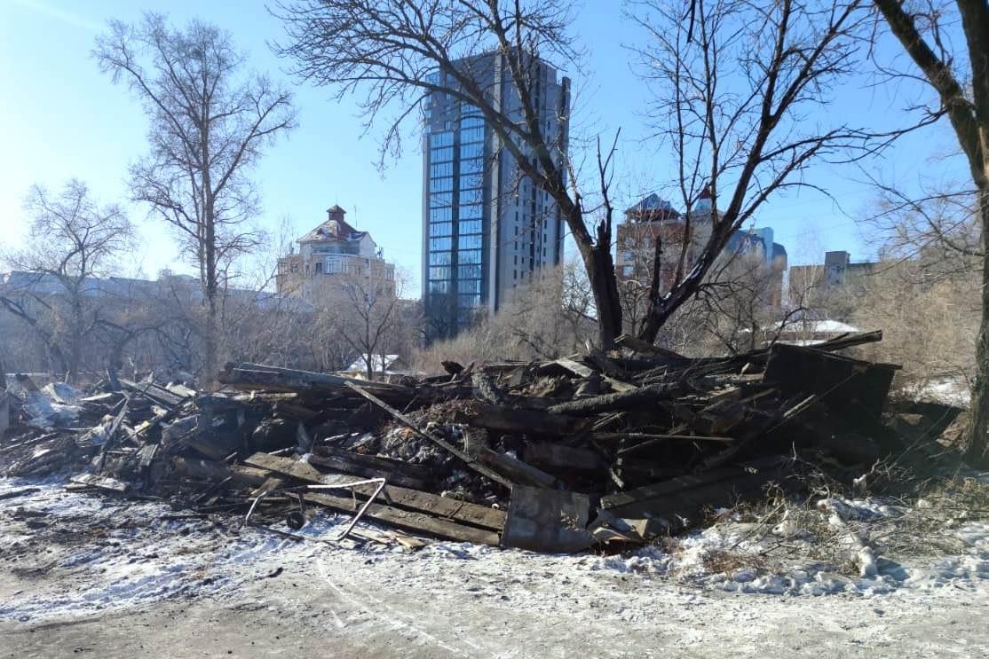 Площадку под строительство нового детского сада расчистили в Хабаровске