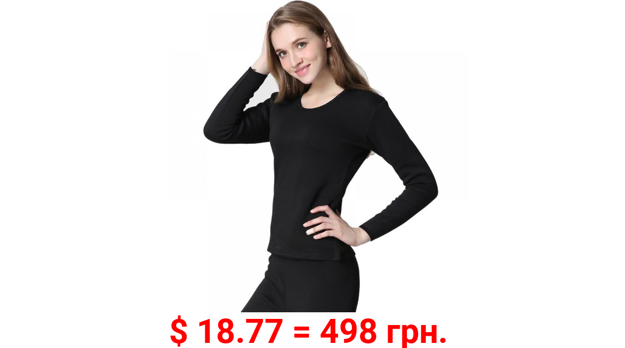 ClEARANCE!Factory Price Thermal Underwear for Women Fleece Lined Thermals Women's Base Layer Long John Set