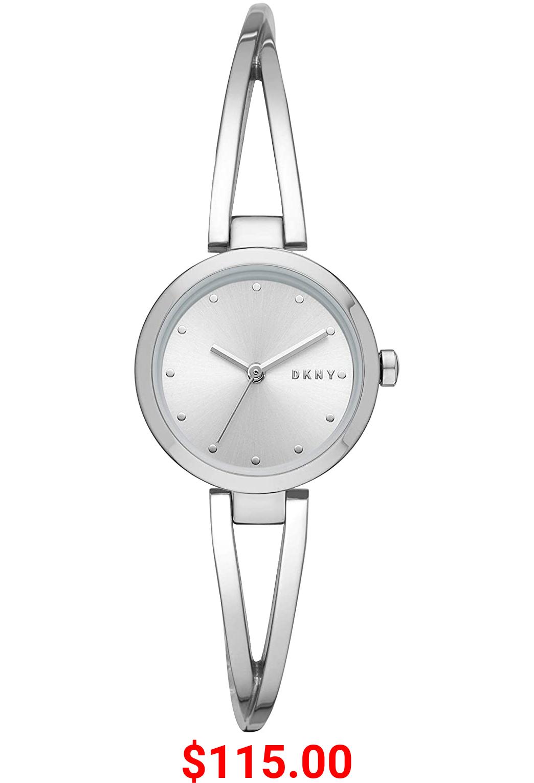 DKNY Women's Silver-Tone Stainless Steel Dress Quartz Watch
