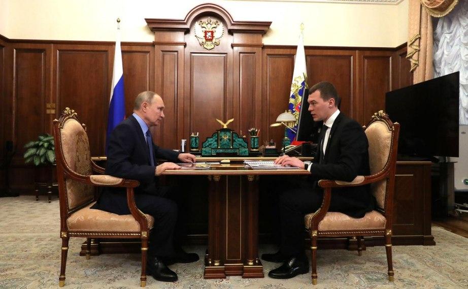 Путин встретился с врио губернатора Хабаровского края