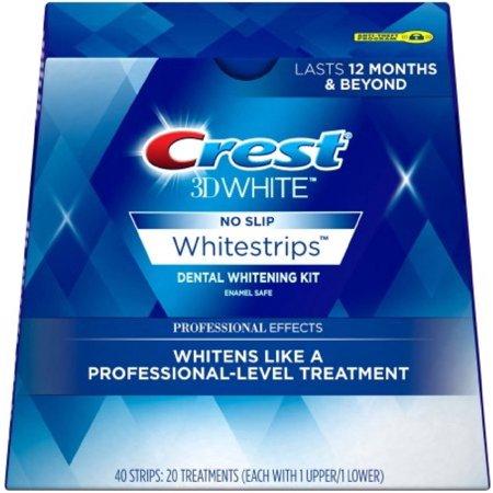 Crest 3D No Slip Whitestrips Professional Effects Teeth Whitening Kit 20 ea