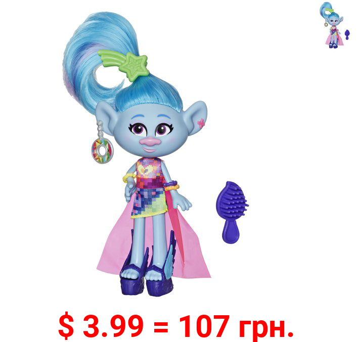 DreamWorks Trolls Glam Chenille Fashion Doll, Includes Dress and Shoes