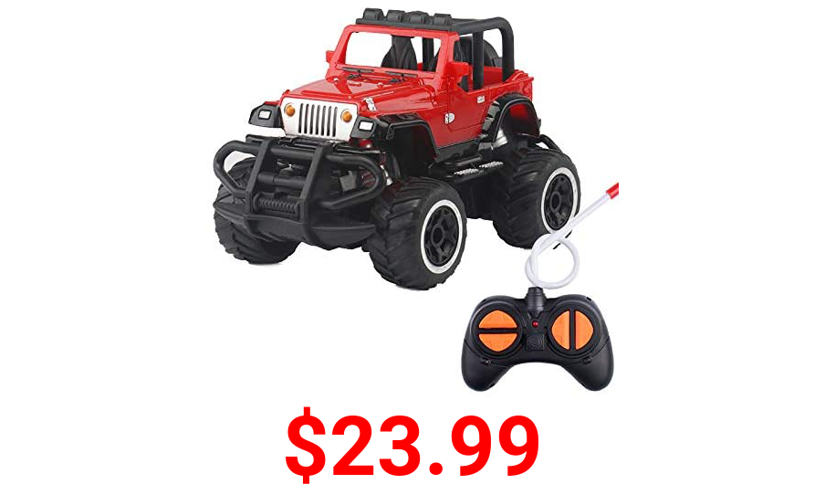 N+A Children's Off-Road Vehicle Toy 1:32 Large 4CH 2WD 2.4GHz Off-Road RC Racing Truck Vehicle high-Speed Remote Control Climbing Model (for Boys and Girls Aged 4-6) (red)