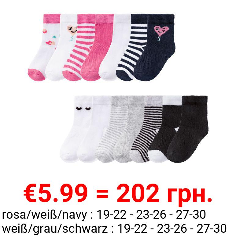 LUPILU® Kleinkinder Socken Mädchen, 7 Paar