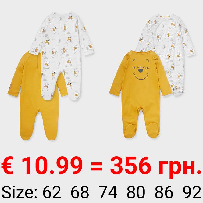Multipack 2er - Winnie Puuh - Baby-Schlafanzug - Bio-Baumwolle
