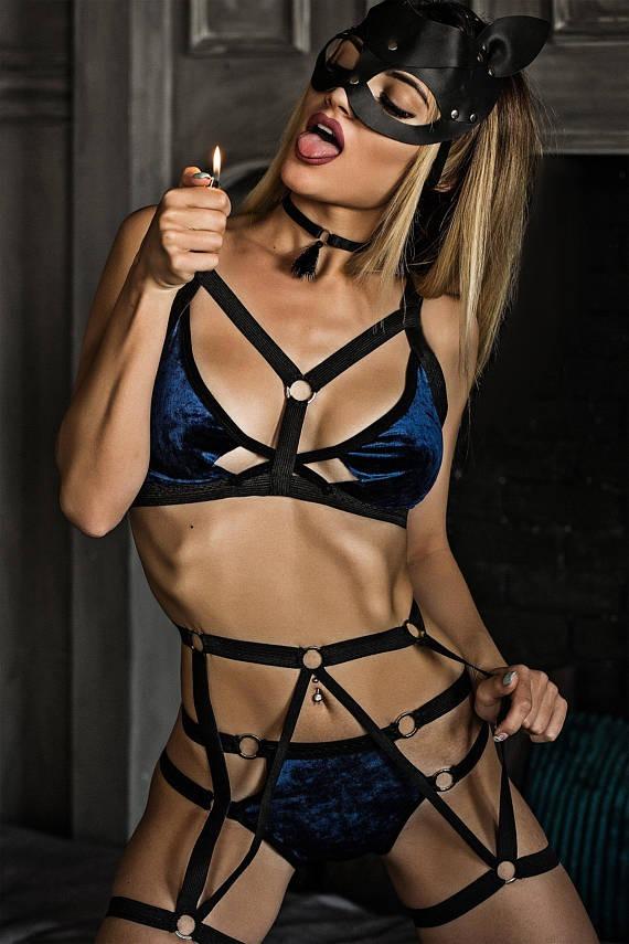 Beautiful women in bondage fantasy