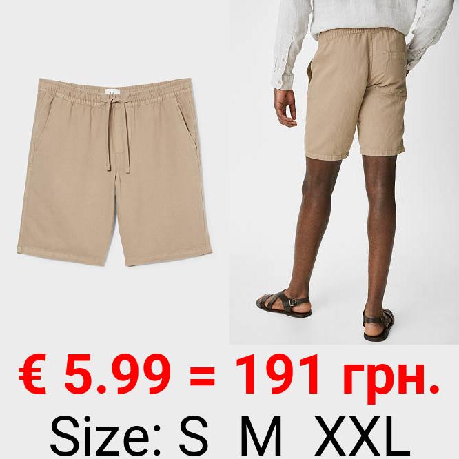 Shorts - Leinen-Mix