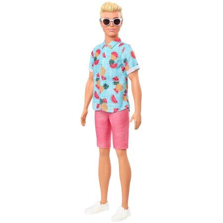 Barbie Ken Fashionistas Doll #152, Sculpted Blonde Hair & Tropical Print Shirt