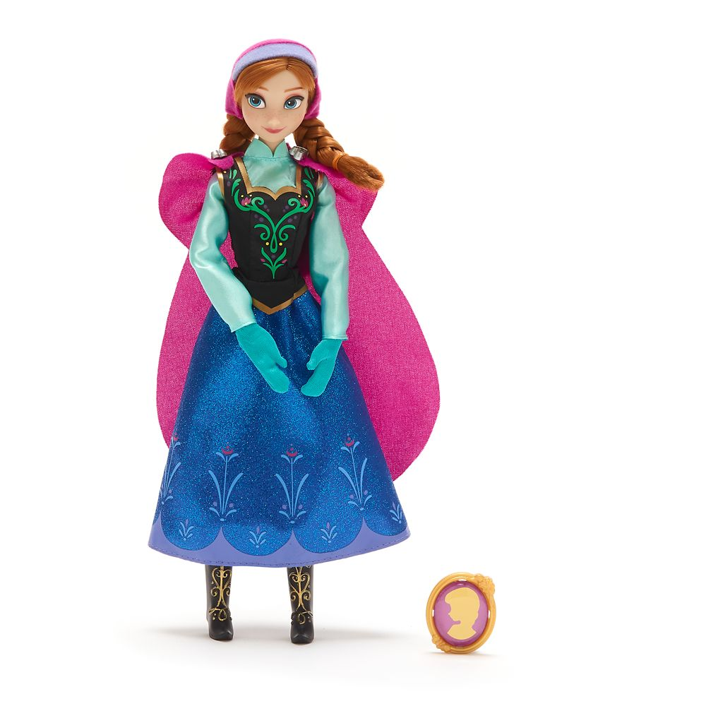 Anna Classic Doll with Pendant – Frozen – 11 1/2''