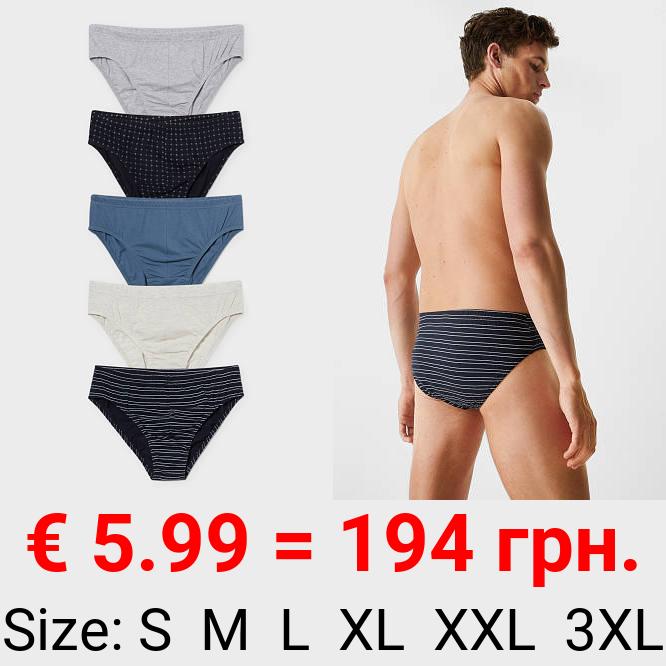 Multipack 5er - Slip - Bio-Baumwolle