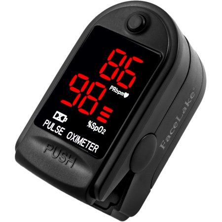 FaceLake FL-400 Fingertip Pulse Oximeter (Black)