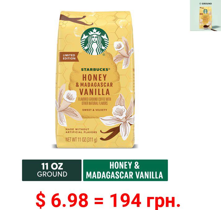 Starbucks Flavored Ground Coffee — Honey & Madagascar Vanilla — 100% Arabica — 1 bag (11 oz)