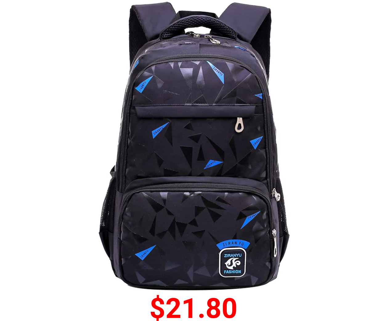 Fanci Geomatric Triangle Prints Waterproof Primary Middle School Backpack Bookbag for Elementary Boys Travel Rucksack Daypack