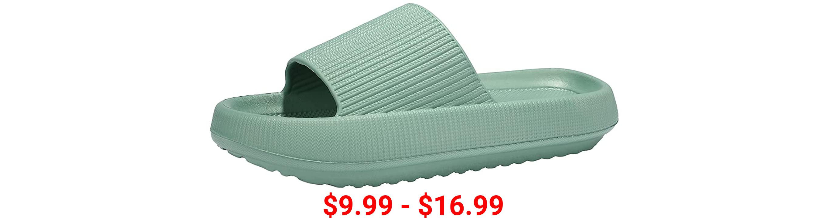 Deevike Slippers for Women and Men Pillow Slides Women Shower Bathroom Sandals Soft Non Slip House Quick Drying Slides