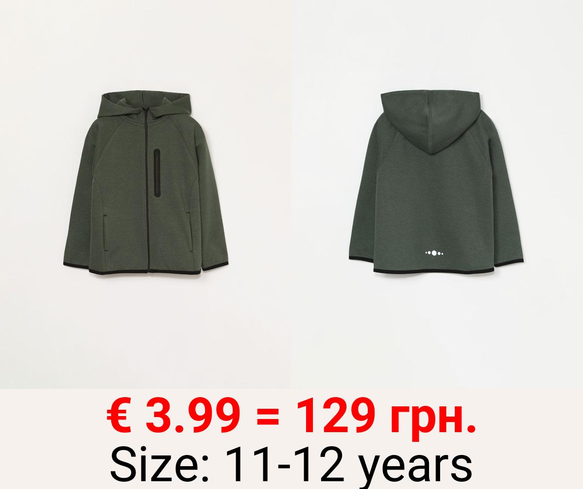 Plush sports jacket