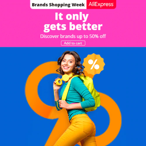 Brands Shopping Week-Warm up  Discover brands up to 50% off  Promotion Period: 19-08-2020 - 24-08-2020