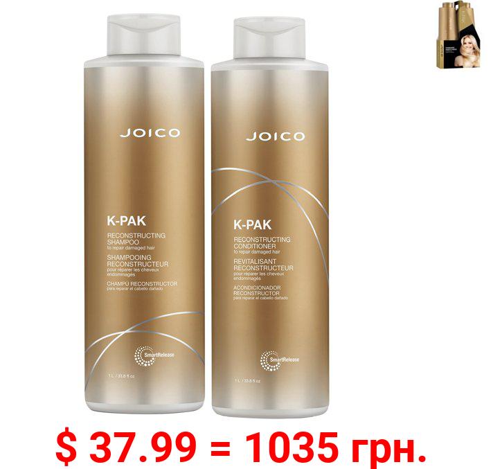 JOICO K-PAK Damaged Hair\'s Hero Shampoo & Cond. Duo 33.8 oz Ea