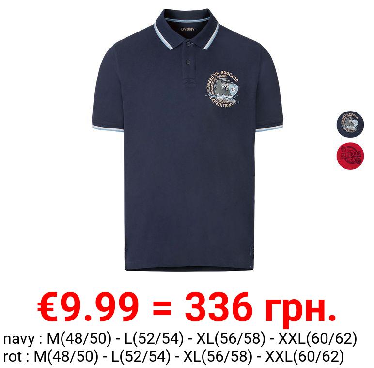 LIVERGY® Piquee Poloshirt Herren, kurzarm, mit Baumwolle