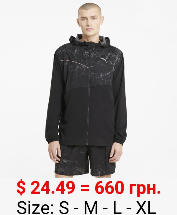 Graphic Men's Hooded Running Jacket