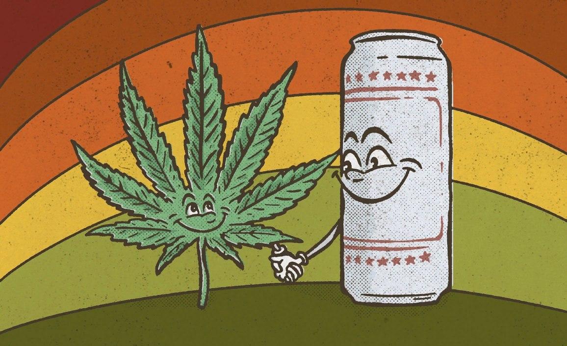 Марихуана и пиво купить тест марихуаны аптека
